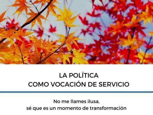 la política como vocación de servicio Ana Sanz
