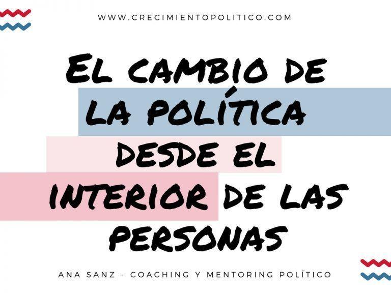El cambio de la política desde el interior de las personas