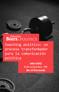 Cartel anuncio coloquio Beers and politics. Ana Sanz.