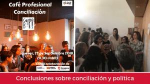 Conclusiones sobre conciliación y política, B