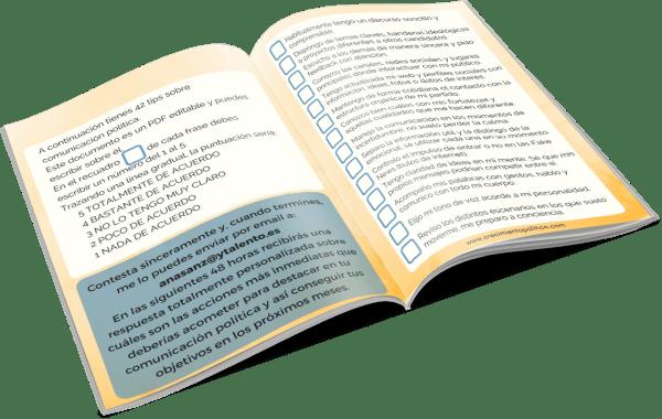 Libro abierto 3 D 42 tips comunicación política